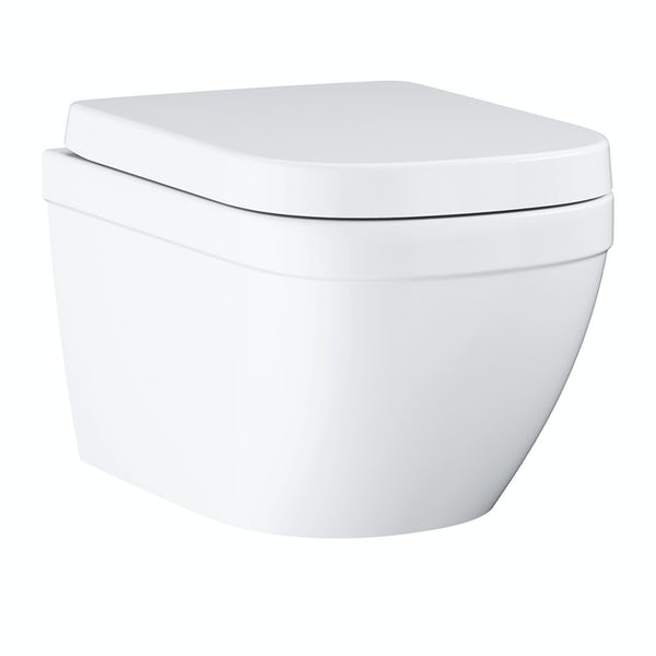 Grohe Euro Ceramic wall hung toilet with soft close seat