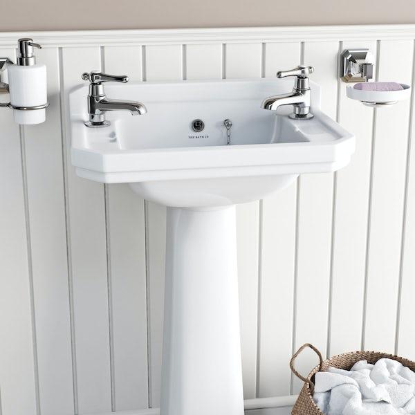 The Bath Co. Camberley lever basin pillar taps