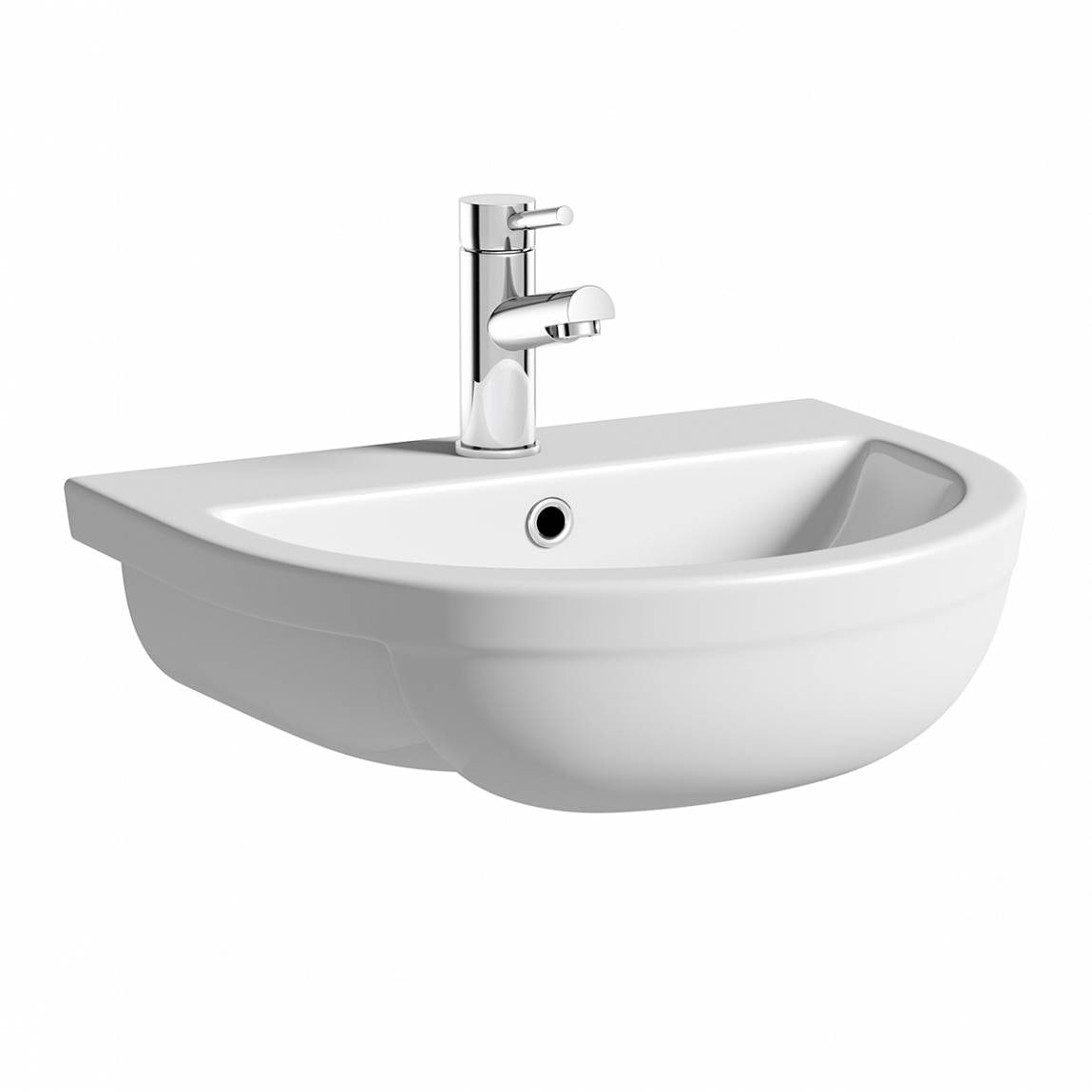 Victoria Plumb Showers >> Orchard Elena 1 tap hole semi recessed counter top basin 500mm with waste | VictoriaPlum.com