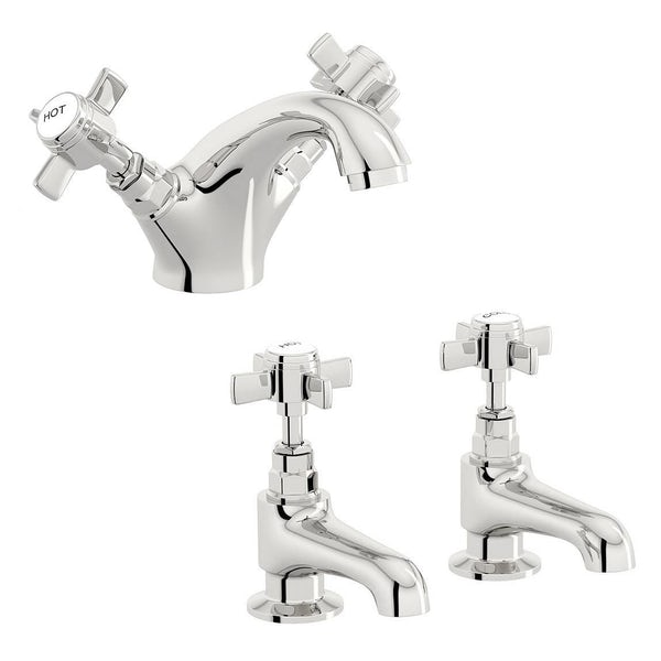 Dulwich Basin Mixer and Bath Tap Pack
