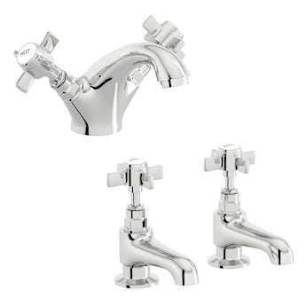 The Bath Co. Dulwich basin mixer and bath tap pack