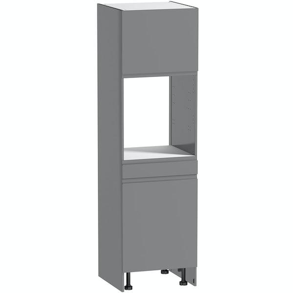 Schon Chicago mid grey slab 600mm single oven housing unit