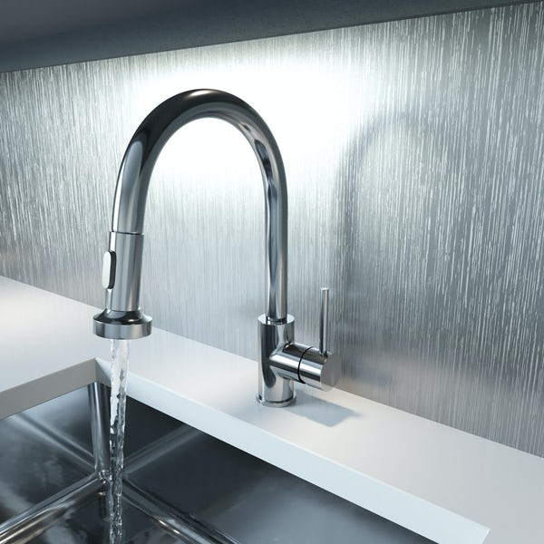 Schön pull out kitchen mixer tap