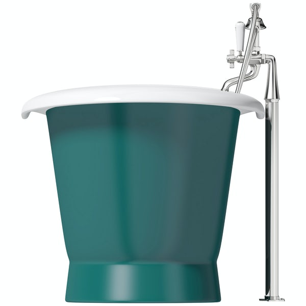 Artist Collection Totally Turquoise traditional freestanding bath & tap pack