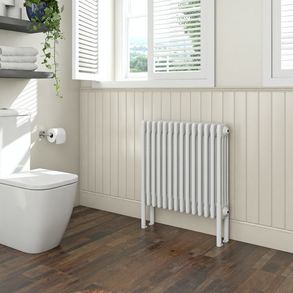 Clarity white 4 column radiator 600 x 654