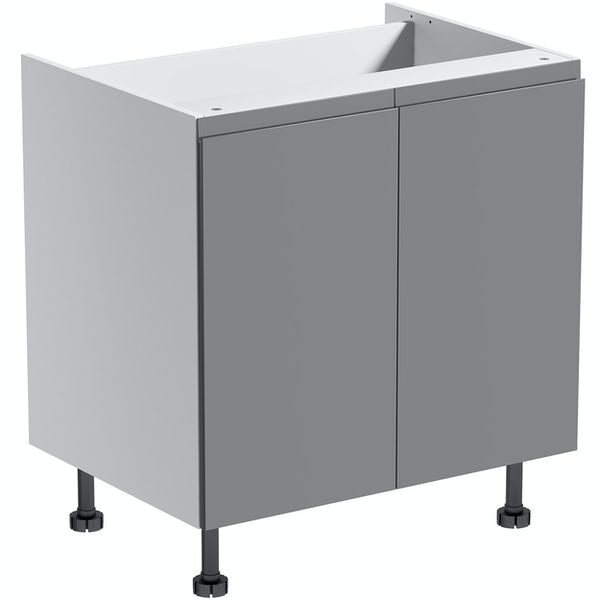 Schon Chicago mid grey handleless double base unit