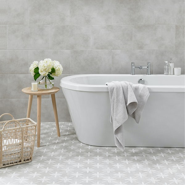 Laura Ashley Heritage Plain Dove Grey Wall Floor Tile