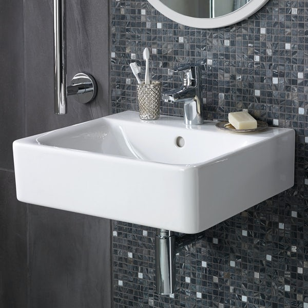 Ideal Standard Concept Cube 1 tap hole wall hung basin 600mm