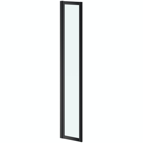 Jacuzzi Loft black framed deflector panel 360mm