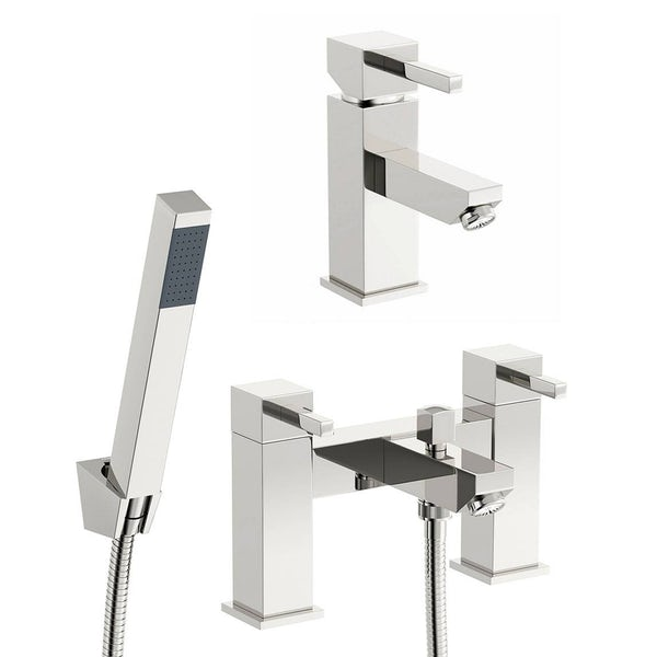 Cubik Basin and Bath Shower Mixer Pack