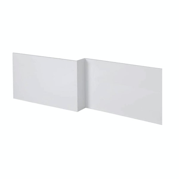 Orchard L shaped shower bath wooden panel gloss white 1700mm