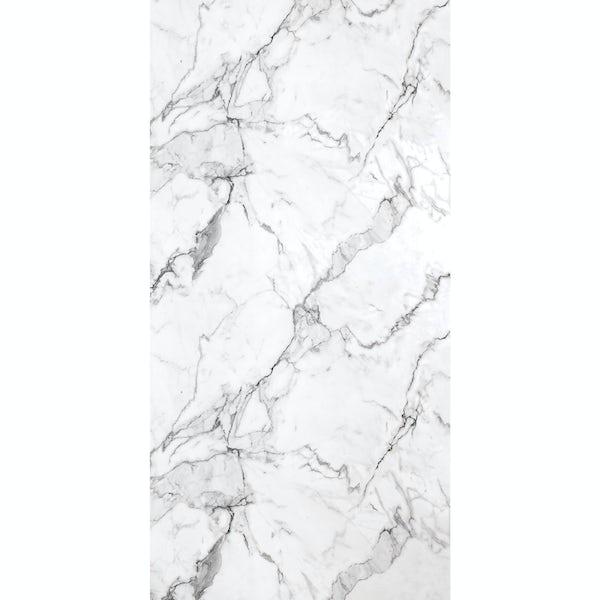 Multipanel Linda Barker Calcatta Marble unlipped shower wall panel 2400 x 1200