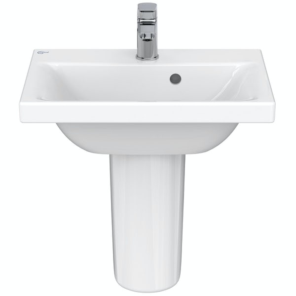 Ideal Standard Concept Space 1 tap hole semi pedestal basin 500mm