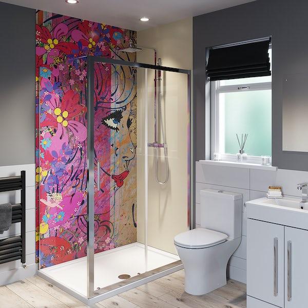 Louise Dear Oooh Yeah! Barley Beige shower wall panel pack
