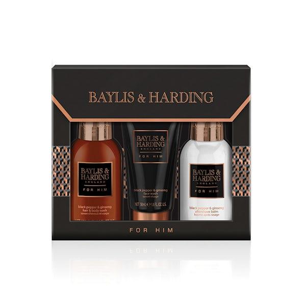 Baylis & Harding men's black pepper & ginseng small 3 piece set