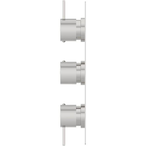 Mode Burton soft square triple thermostatic shower valve