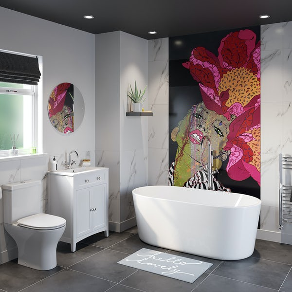 Louise Dear There Are No Rules freestanding bath suite 1500 x 700mm
