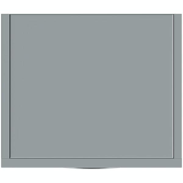 Orchard Elsdon stone grey slimline tall storage unit 300mm