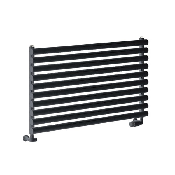 Reina Nevah anthracite grey single horizontal steel designer radiator