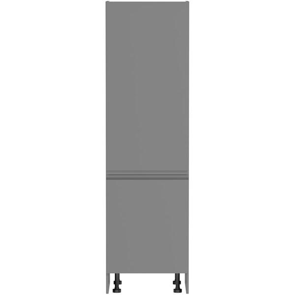 Schon Chicago mid grey slab 600mm larder unit
