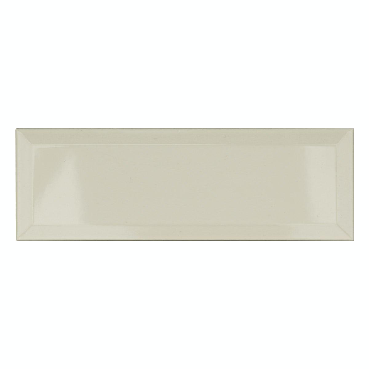 London XL Ivory Cream Bevelled Gloss Metro Wall Tiles 10 X 30cm Tile Samples
