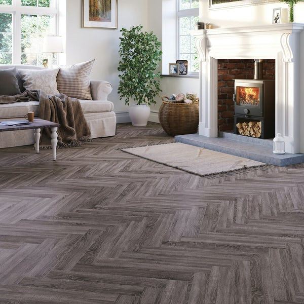 Malmo LVT Herringbone Vantaa embossed stick down flooring 2.5mm