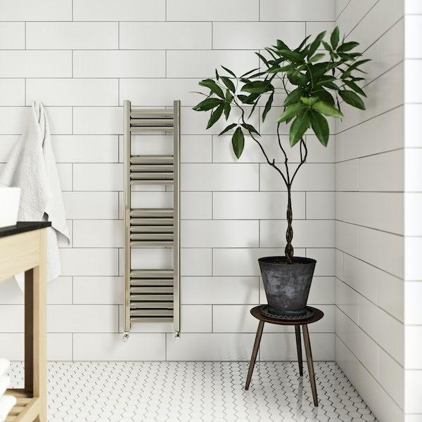 The Heating Co Carter brushed aluminium heated towel rail