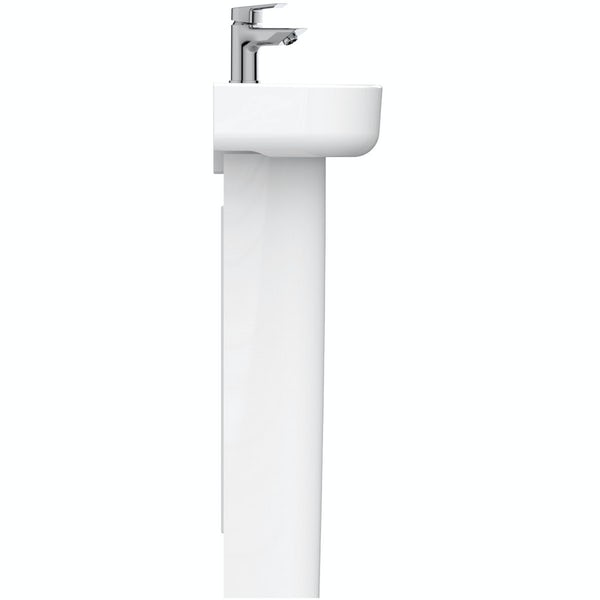 Ideal Standard Concept Space right handed 1 tap hole full pedestal basin 350mm