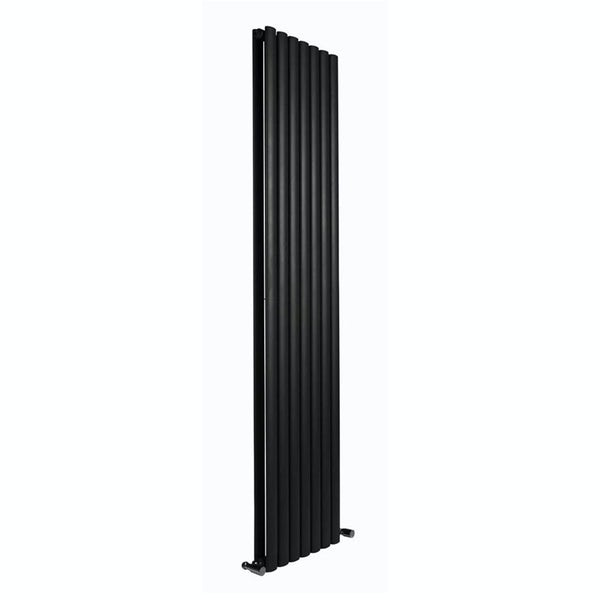 Reina Neva anthracite grey double vertical steel designer radiator