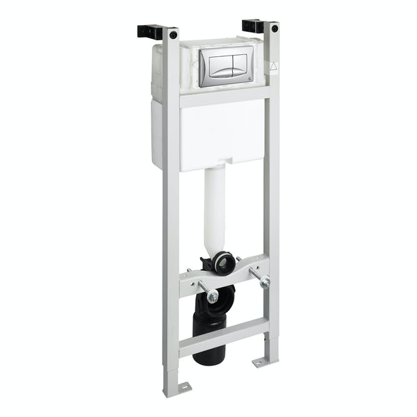 Ideal Standard 1100mm wall mounting frame and River chrome push plate