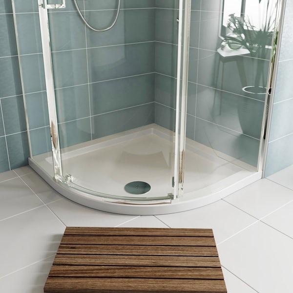 Orchard quadrant stone shower tray