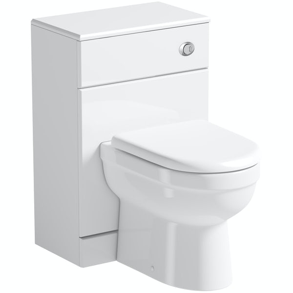Sienna white back to wall toilet unit and Eden toilet with seat