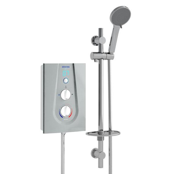 Bristan Joy thermostatic electric shower metallic silver