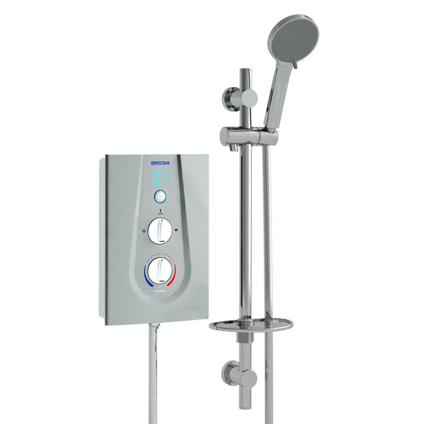 Bristan Joy thermostatic electric shower metallic silver