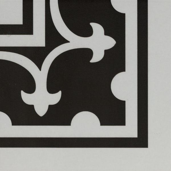 Girona corner white traditional matt wall and floor tile 200mm x 200mm