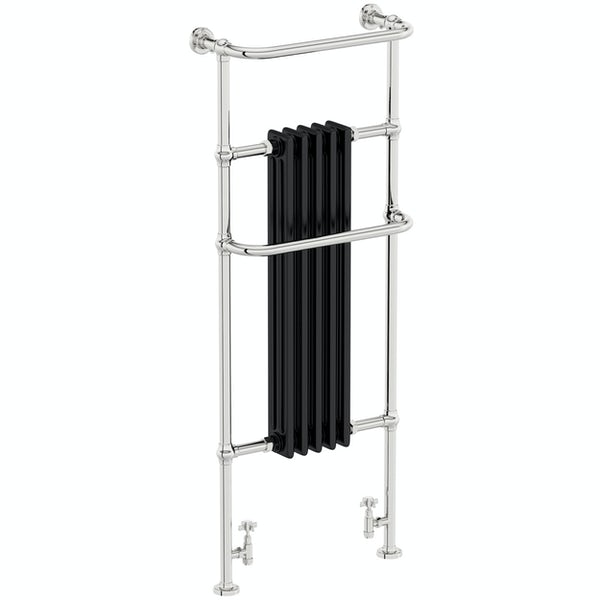 The Heating Co. Santa Fe black traditional radiator 1500 x 599