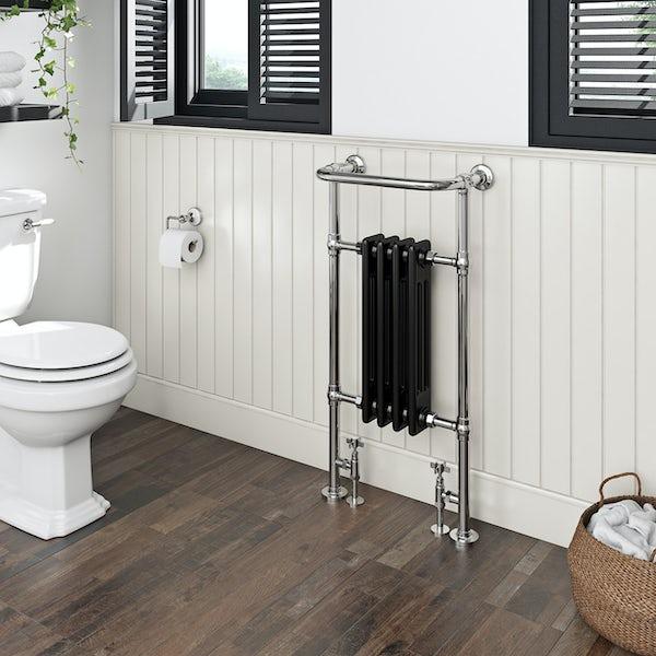 The Heating Co. Santa Fe black traditional radiator 952 x 479