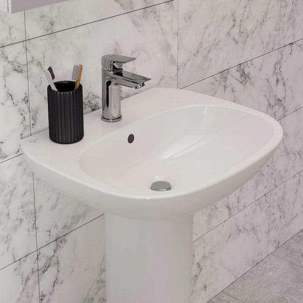 Ideal Standard Tesi 1 tap hole full pedestal basin 550mm