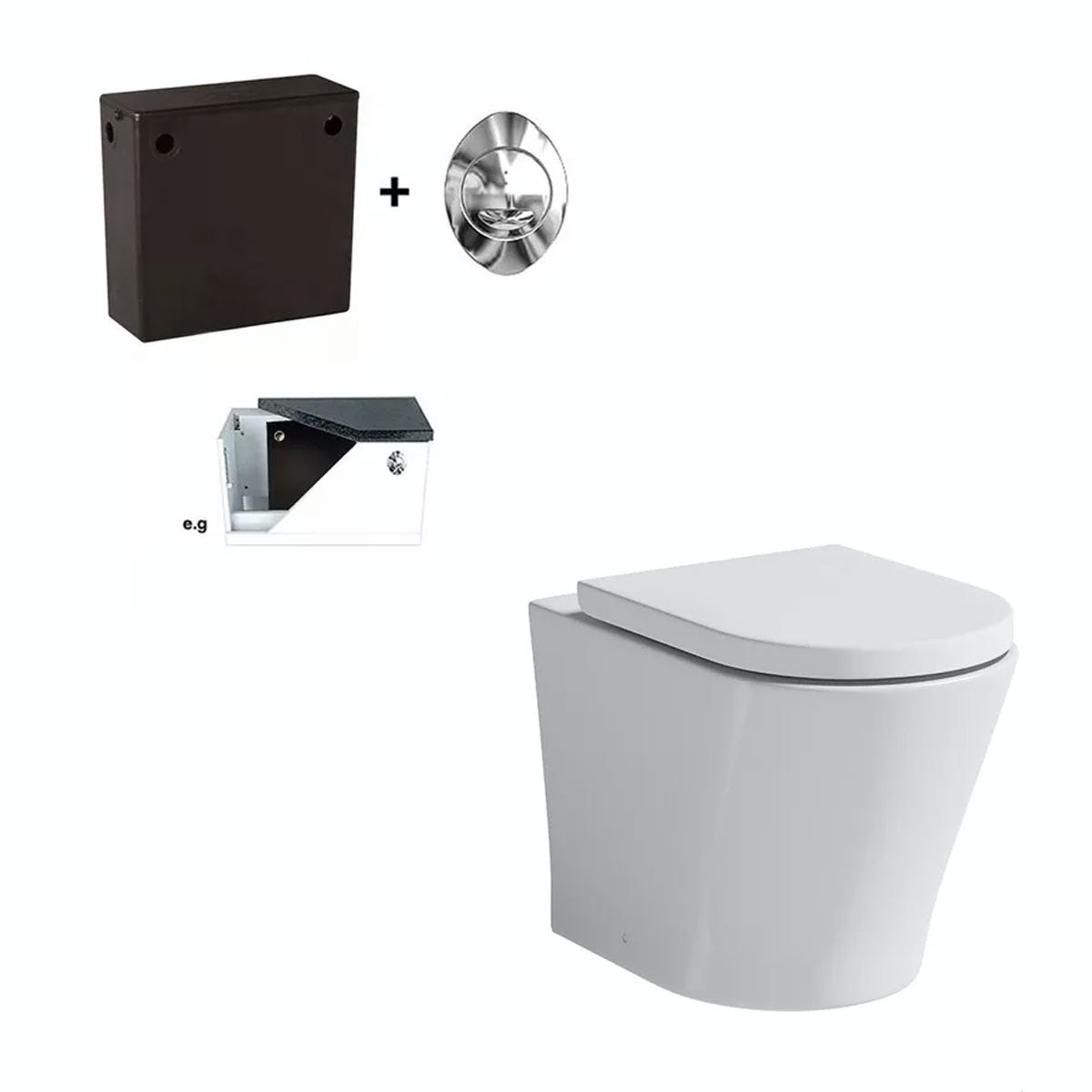 Mode Tate Back To Wall Toilet With Soft Close Seat And