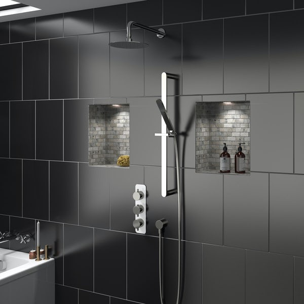 Mode Austin triple thermostatic shower valve with diverter