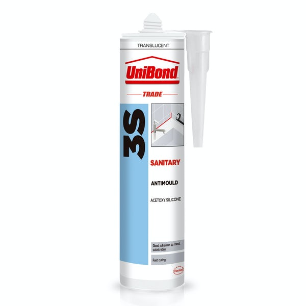 UniBond Pack of 3 clear bathroom sealant