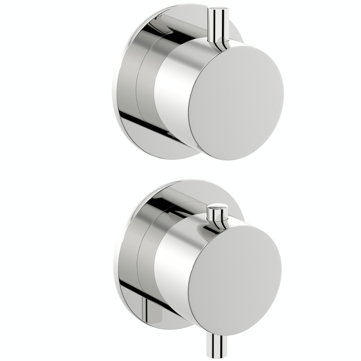 Mode Hardy round twin thermostatic shower valve with diverter