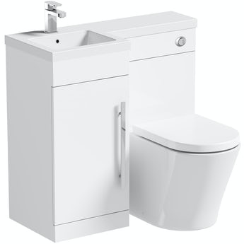 Orchard MySpace white left handed combination with contemporary back to wall toilet