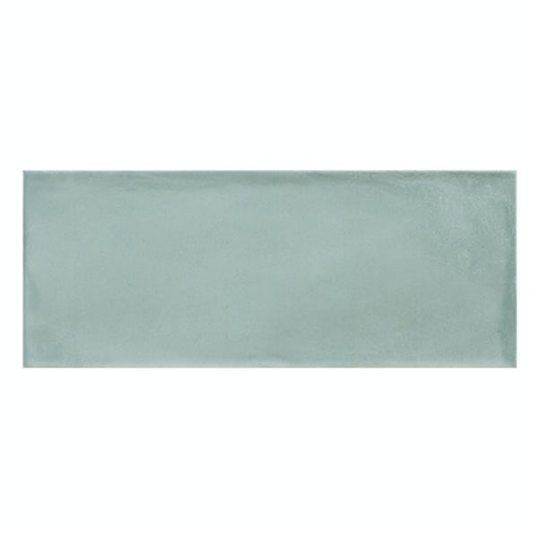 Chateau aqua green bumpy matt wall tile 200mm x 500mm
