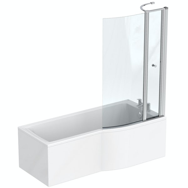Ideal Standard Concept Air complete white furniture and right hand shower bath suite 1700 x 800