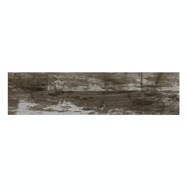 Basswood taupe wood effect matt wall and floor tile 150mm x 600mm