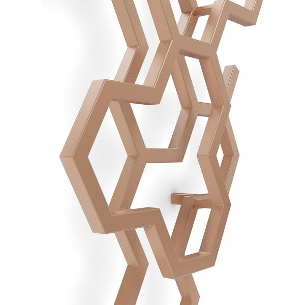 Terma Hex bright copper designer radiator