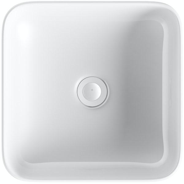 Mode Pemberton square thin edge countertop basin 360mm