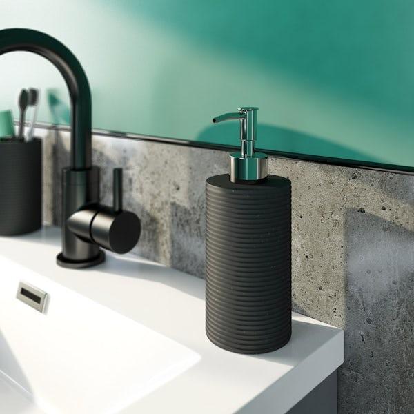 Accents black soap dispenser