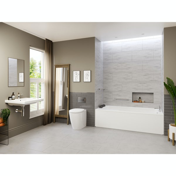 Ideal Standard Concept Freedom complete right handed shower bath suite 1700 x 800